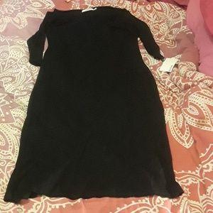 Body hugging black dress!